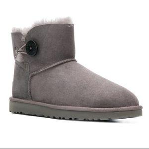 UGG Mini Bailey button boots, Grey
